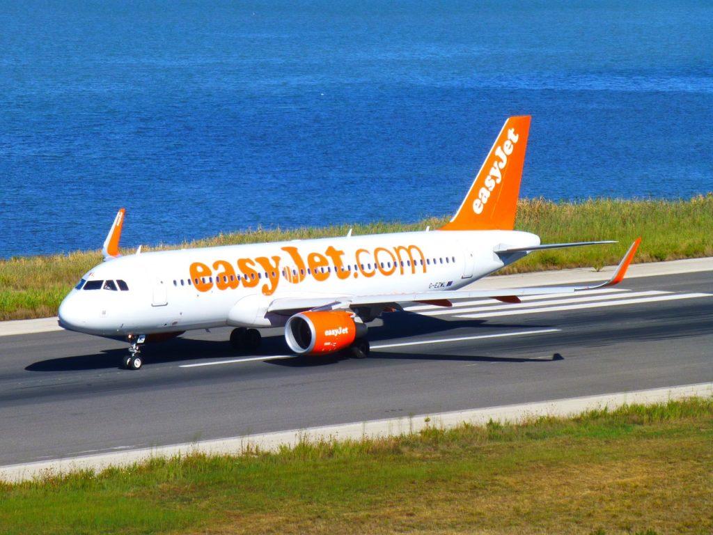Avion Easyjet en plein vol vers Agadir