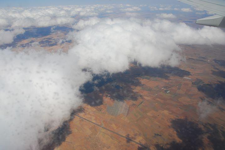 Vue aérienne sur le Maroc