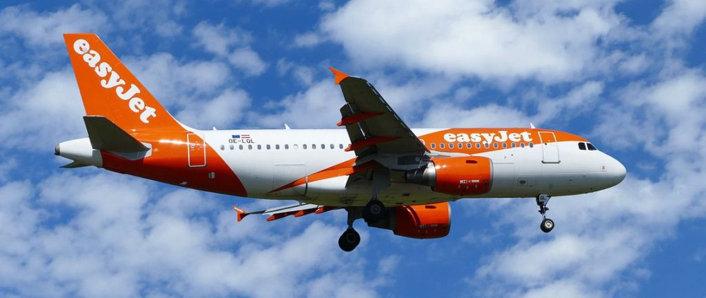 Avion EasyJet en plein envol vers Agadir