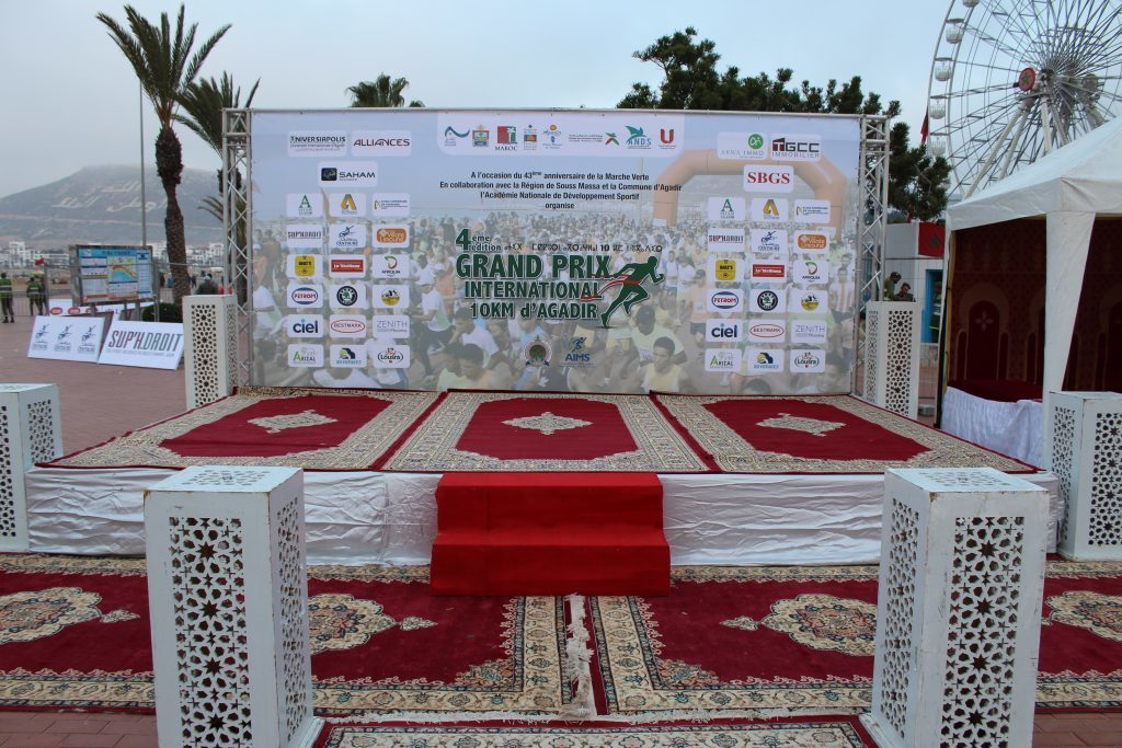 Podium du Grand prix international 10 km d'Agadir